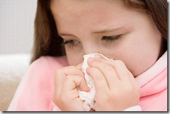 kid allergy sneeze kleenex nose