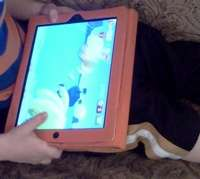 ipad is ok for kids graphic