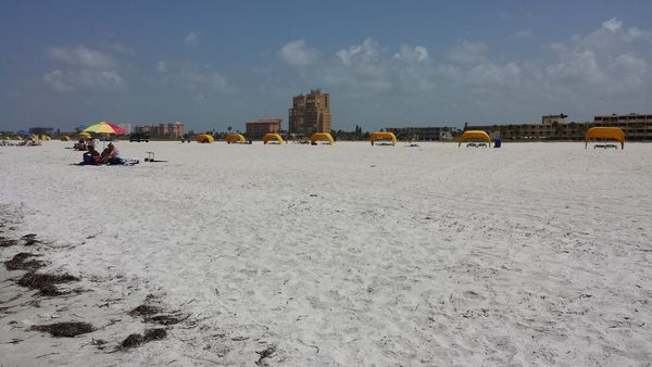 Treasure Island Beach near Clearwater, Florida. Look how wide it is!