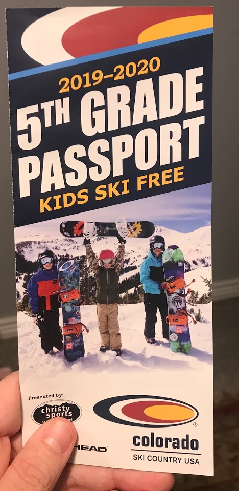 free 5th grade colorado ski pass